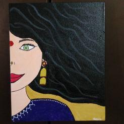 Acrylic paint on canvas. (8x10 size)