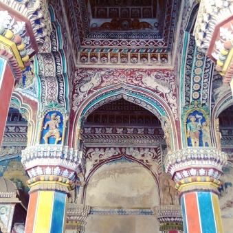 History had such beauty everywhere you turn. Darbar at Maratta Palace, Thanjavur, India. Shot with Vibe phone camera.