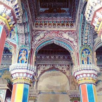 History had such beauty everywhere you turn. Darbar at Maratta Palace, Thanjavur, India. Shot with Vibe phone camera.